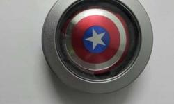 Silver, Red, And Blue Captain America Hand Spinner In
