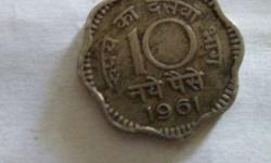 Silver Scallop 10 Indian Paise Coin