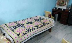 Single bed for sale 3*7 size.. Wood furniture has good