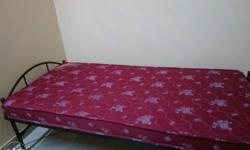 6X3 feet cot and bed rarely used.good condition.
