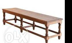 six feet strong teak wood bench for sale contact:9840