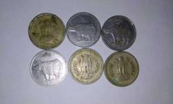 Six Round Silver Coins