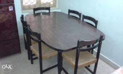 Six seater superfine quality Dining table. Wood