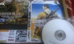 Mint condition pc game sniper elite 3 4dvd game