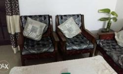 sofa set with cetera table in good condition