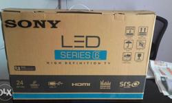 "Sony 24""LED FULLHD (1080) FUTURES. HDMI PORT-2 USB-2 AV"