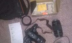 Brand new sony alpha 65 dslr with all accessories and