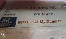 SONY BRAVIA LED TV MODEL NO.BLV-32W672E Box Piece and