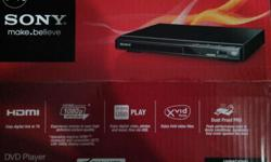 Sony DVD Player with HDMI out, HD picture, USB Play and