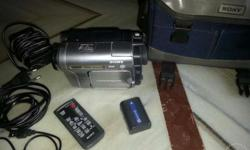 Sony Handycam with extra long battery,remote and all
