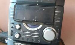 Sony hi fi system with remote only amp
