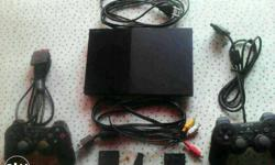 Sony playstation 2 with remonte memory card 16 gb hdd