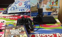 Sony ps2 in very good condition and it has two remotes