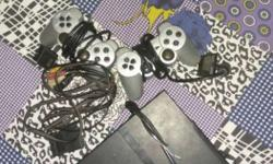 Sony Ps2 with two remotes