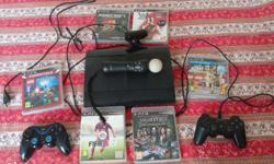 SONY PS3 - Matte Black with:- 1) Move Feature -