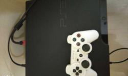 Sony PS3 Slim Console With White Controller and 6