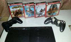 Sony PS3 Super Slim Console, Controller And Game Lot