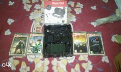 Sony psp 3000 with four games +Classic pack (screen