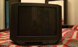 sony tv with 32 inch black colour