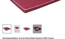 Springwell 4inch king size mattress brand new. bought