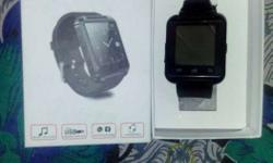 Square Black Frame Smart Watch In Case