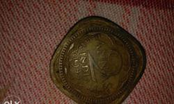 Square Copper Indian Coin
