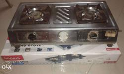 Stainless Steel 2 Burner Stove.Good working condition.