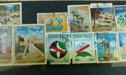 Antique collection of stamps for sale.
