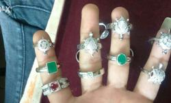 Silver Rings starting from 299 Stone rings, Plain