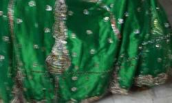 stiched unused green and blue lehnga for 2000 each