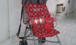 Baby stroller is 2 months old & has detachable covers &