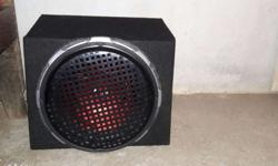 Speaker sub 12 inch size Price 3300 One mont used Super