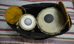 Tabla with Steel body . Sharma musicals. Barely used