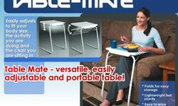 Table Mate 2- Portable, Foldable & Adjustable Table for