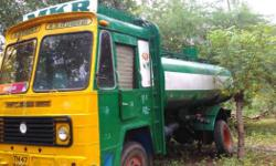 Green And Yellow water Tank lorry Engine,tyre, auto