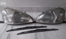 New Condition Car Parts Both Headlights & Wiper Wiper