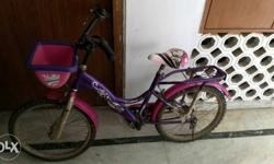 Tata Stryder girls bicycle (purple and pink color) in