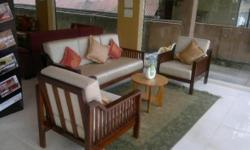 Completely made of teak wood. We can provide furniture