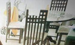 Black And White Wooden Dining Table Set