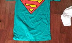 Teal And Red Superman Crewneck Shirt its about whole