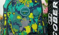 Teal, Blue, Gray And Yellow Cocobery Backpack