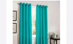 Teal Grommet Curtain