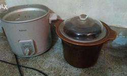 Imported slow cooker with porcelan vessel internal and