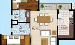 There is 2bhk flat in Ansal Aquapolis in front of