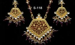 THIS IS THEWA (23ct. gold on glass work) JEWELLERY....