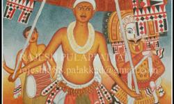 thirayum poothavum# acrylic on canvas 3*2 feet with