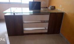 this is office counter made from wood it is in really