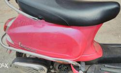 This is pink color vespa, 2015 June month, good in