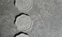 Three 2 Indian Paise Coins