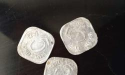 Three Square Silver Coins